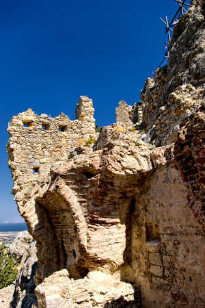 kos: Castle ruins on Kos Island in Greece Stock Photo