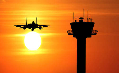 control tower: fighter jet control tower
