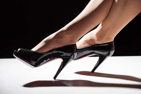 black shoes: black shoes