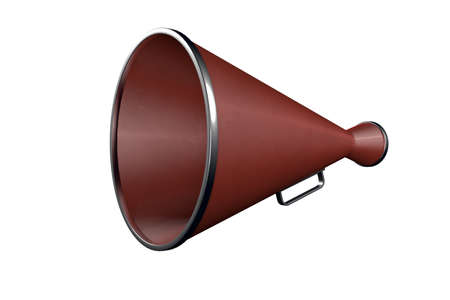 isolated megaphone in white background Stock Photo