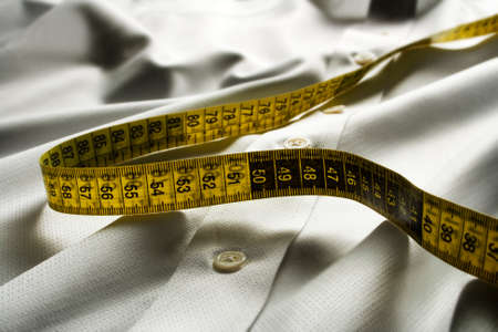 textile with measure and shirt