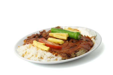 donner: Turkish traditional meat iskender and donner kebab  Stock Photo