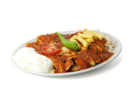 donner: Turkish tavuk iskender and donner kebab