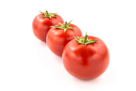 domates: Arrenged Three Tomatoes - Clipping Path Inside