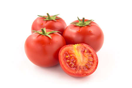 Four Sliced Tomatoes - Clipping Path Inside