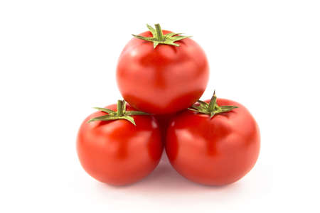 domates: Three Tomatoes - Clipping Path Inside