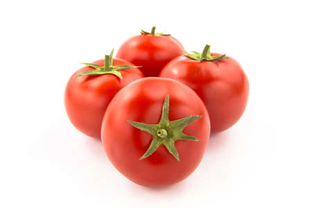 domates: Four Tomatoes - Clipping Path Inside Stock Photo
