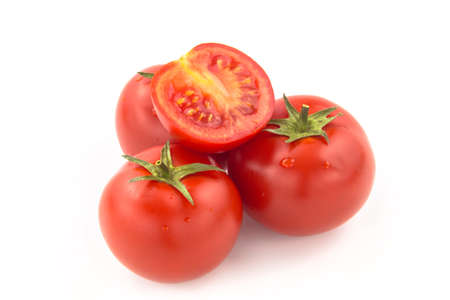 domates: Four Sliced Tomatoes