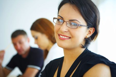 portrait of nice young businesswoman in office environment Stock Photo - 2298967
