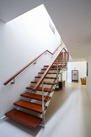 View of nice staircase leading up to the second floor Stock Photo - 2693815