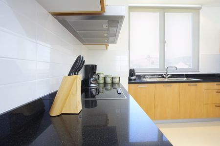 Fragment like view of nice light fully furnished kitchen Stock Photo - 2701035