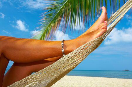 solter�a: Habida cuenta de piernas de la mujer lisa agradable en dicha tropicales