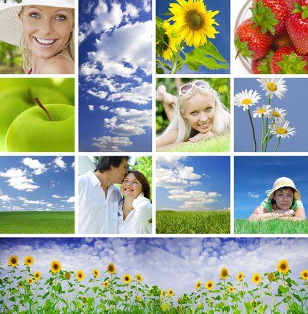 summer collage photo