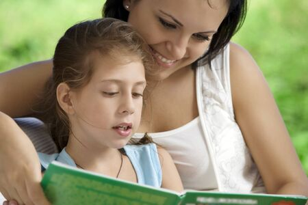portrait of happy mother with daughter  having good time in summer environment Stock Photo - 6867382
