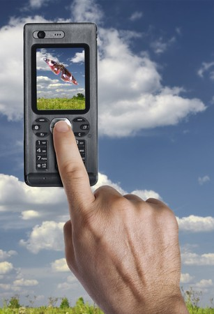 Close up view of mobile phone taking photo Stock Photo - 7752832