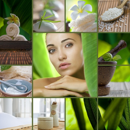 Spa theme collage composed of different images Stock Photo - 8377819