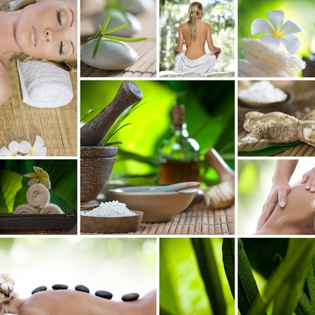 spa collage: Spa theme collage composed of different images