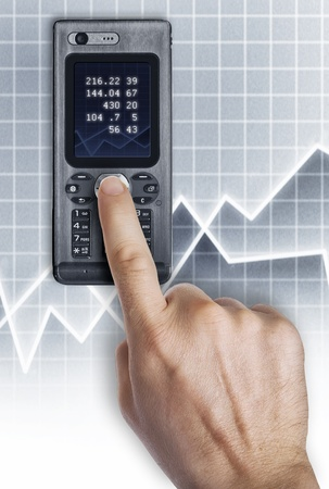 Close up view of mobile phone dialing up Stock Photo - 8627628
