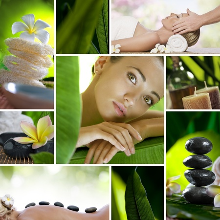 Spa theme  photo collage composed of different images Stock Photo - 9072607