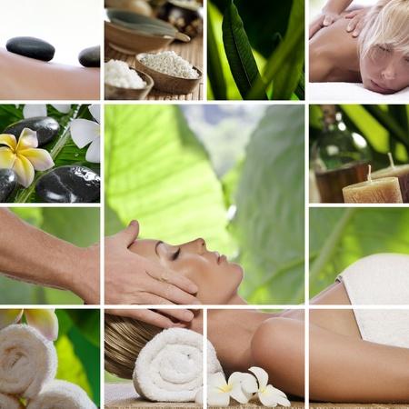 collage caras: Collage de fotos de spa tema compuesto de im�genes diferentes