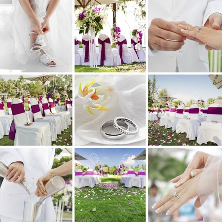 wedding theme collage composed of different images Stock Photo - 12409349