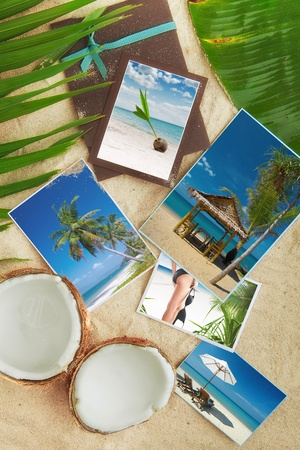 recollections: Tropic beach theme collage composed of few photos