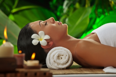 portrait of young beautiful woman in spa environment Stock Photo - 13689009