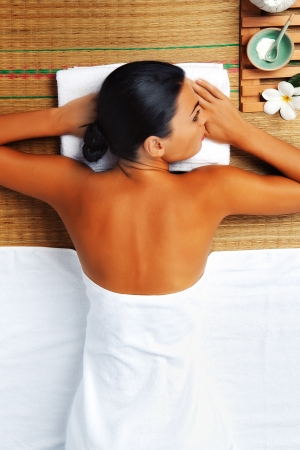 portrait of young beautiful woman in spa environment Stock Photo - 14736740