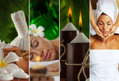 Spa theme collage composed of a few images photo
