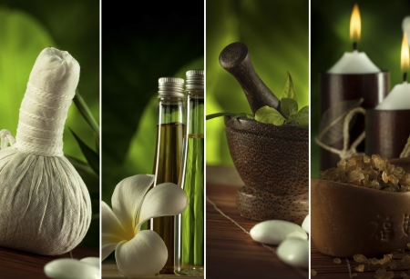 Spa theme collage composed of a few images Stockfoto