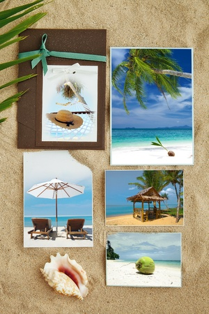 few: Tropic beach theme collage composed of few photos