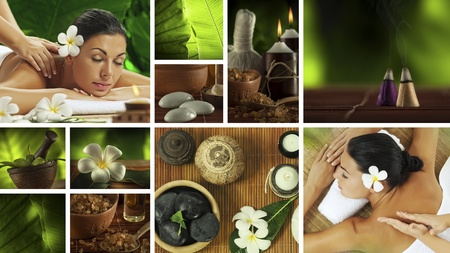 health collage: Spa theme  photo collage composed of different images