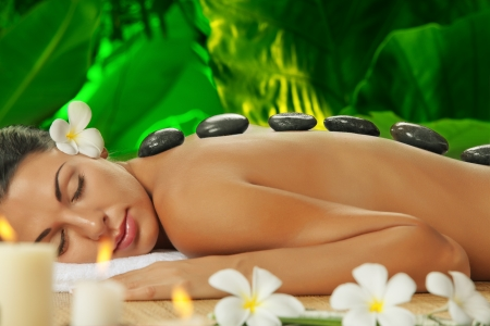 portrait of young beautiful woman  in spa environment Stock Photo - 18547593