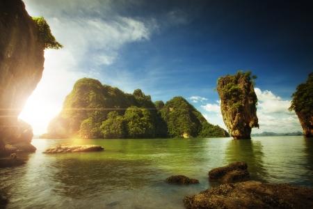 여름 환경에서 좋은 열대 섬보기
