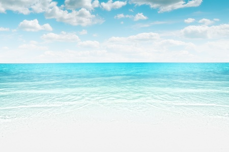 plage: panorama  like View of nice tropical beach  Stock Photo