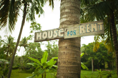 house for rent: close up view of wood house for rent  tab
