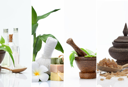 Spa theme  photo collage composed of different images photo