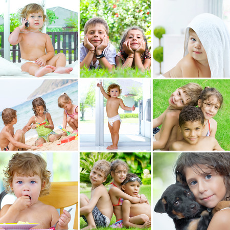 kids theme collage composed of  a few different images photo