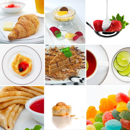 comfit: Food and drink  theme photo collage composed of few images