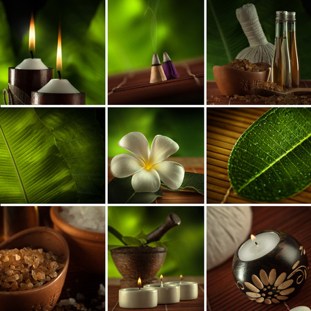 spa collage: Spa theme  photo collage composed of different images