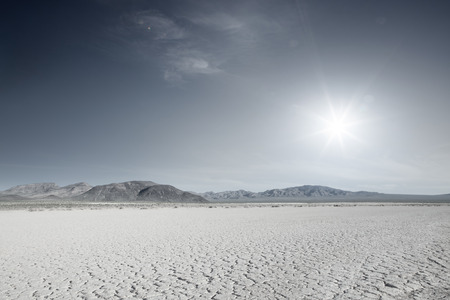 panoramic view of nice hot Nevada  desert daytime Banco de Imagens