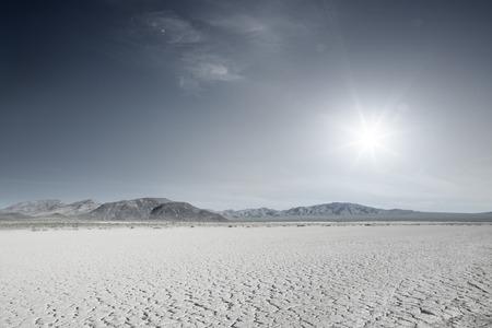 nevada desert: panoramic view of nice hot Nevada  desert daytime Stock Photo