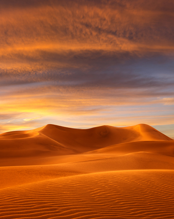 sand dune: view of nice sands dunes at Sands Dunes National Park Stock Photo