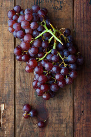 nonfat: close up view of fresh grape  on color back Stock Photo