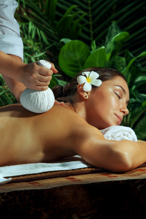 young lady: portrait of young beautiful woman in spa environment