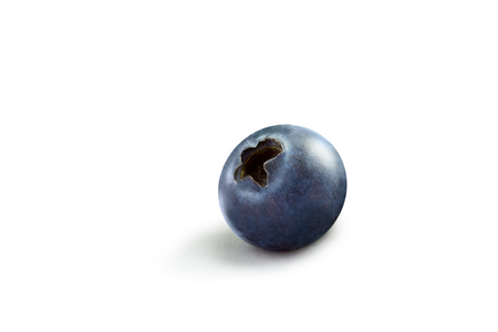 allergic ingredients: close up view of nice freshblueberry on white back Stock Photo