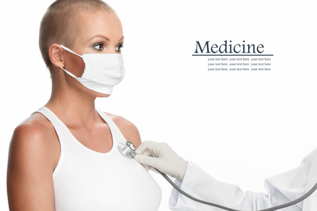 Portrait of young nice woman on medical examination photo