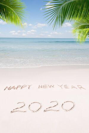 View of nice Christmas and  new year theme  tropical beach Stock Photo