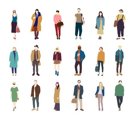 Personnes pack vecteur de mode de la rue