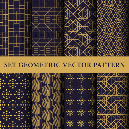 geometric lines: Luxury patterns pack Illustration